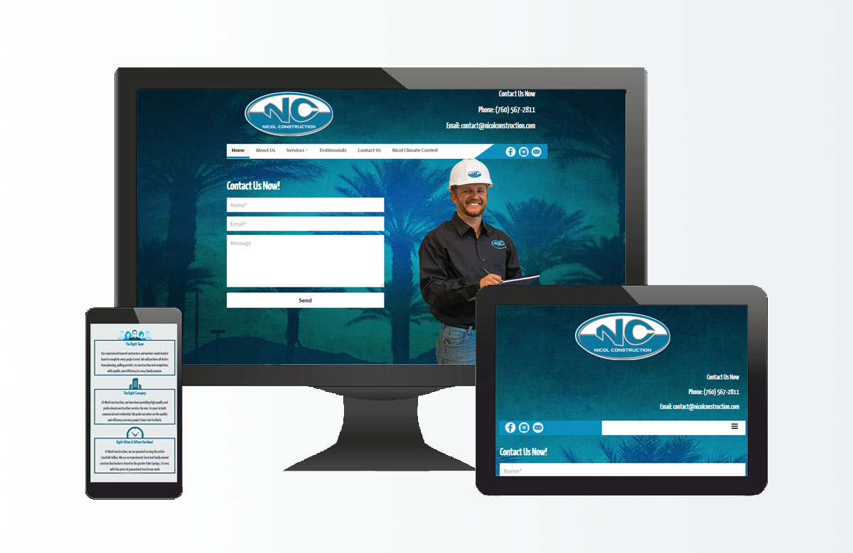 Nicol Construction New Website