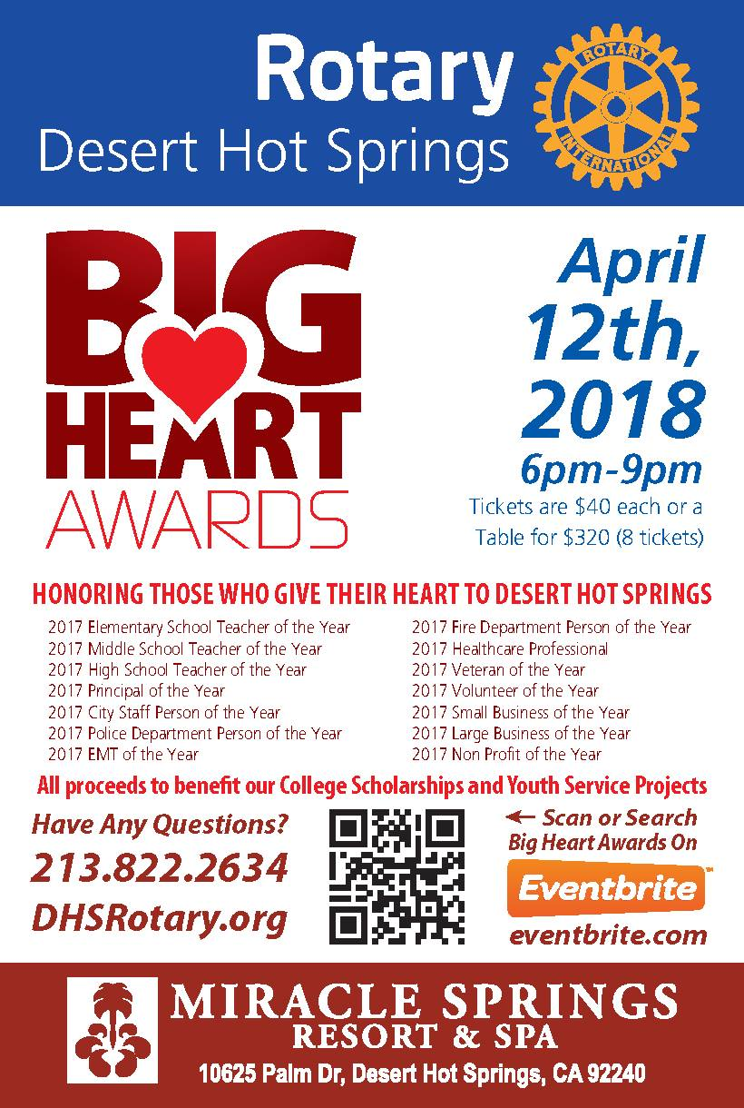 We're Proud To Be A Sponsor For The 2018 Big Heart Awards